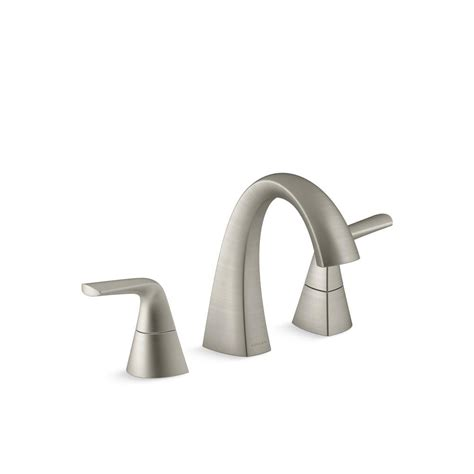 kohler bathroom sink faucets widespread kohler elmbrook 8 in widespread 2 handle bathroom faucet