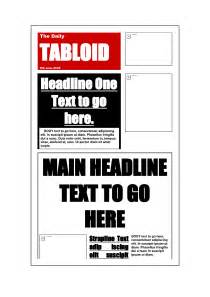 tabloid article template best photos of tabloid newspaper format tabloid