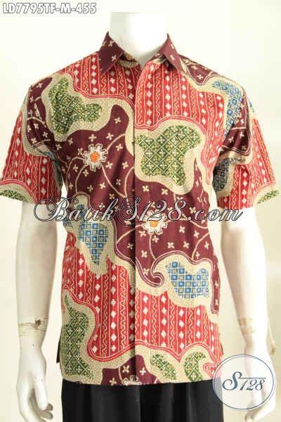 Hbt062 Hem Batik Tulis Premium Kemeja Baju Seragam Pria Murah Kekinian hem batik tulis keren halus lengan pendek kemeja batik