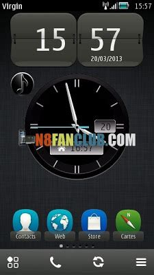 themes analog clock nokia 6300 vertu analog clock widget for nokia n8 other belle