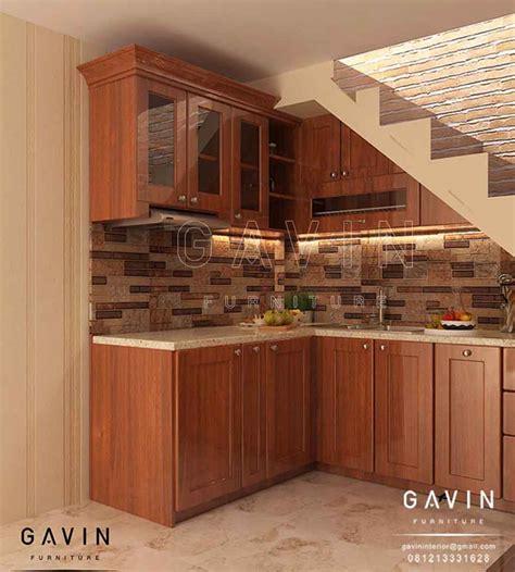 hasil  pembuatan kitchen set klasik  pulo gebang