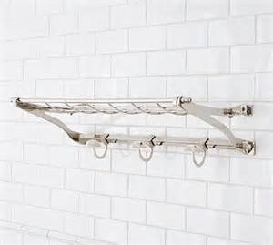 covington train rack polished nickel finish traditional bathroom accessories by pottery barn