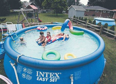 inflatable backyard pool inflatable pools make a splash but owners irked over