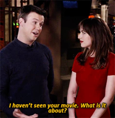 dakota johnsons snl promos spoof fifty shades of grey snl gif find share on giphy