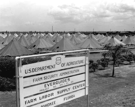 florida memory tent housing for migrant workers provided