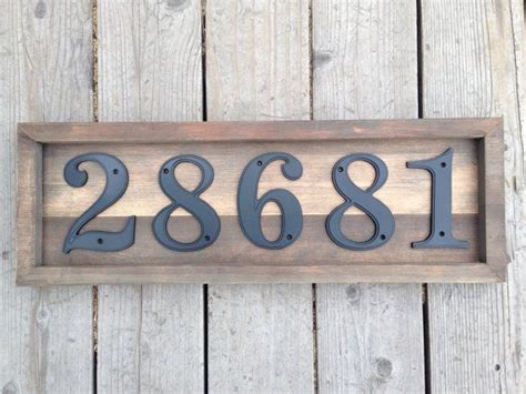 Handmade House Numbers - 17 best ideas about address numbers on house