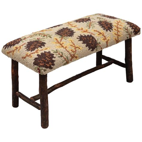 hickory bench northwoods pinecones hickory bench small