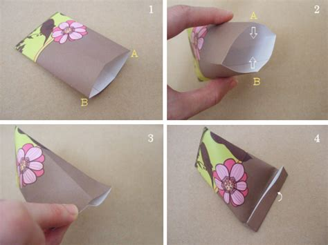 How To Make A Paper Pouch Bag - how to make a triangular paper pouch bloomize