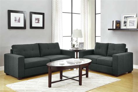 gray couch set homelegance ashmont sofa set dark grey linen u9639 3