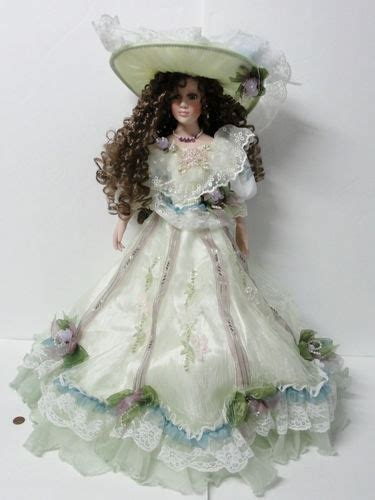 4 ft porcelain dolls new menie 2 ft porcelain doll hair green