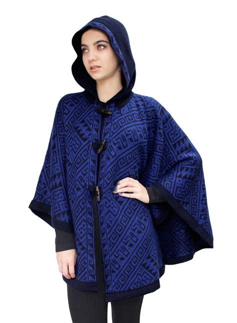 womens knit poncho s alpaca wool hooded knit yarn cape poncho wooden