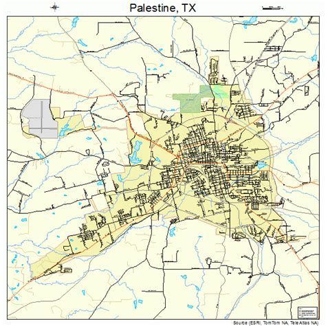 map of palestine texas palestine texas map 4854708