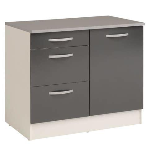 poign馥 pour meuble cuisine eko gris meuble de cuisine bas pour 233 vier avec tiroirs
