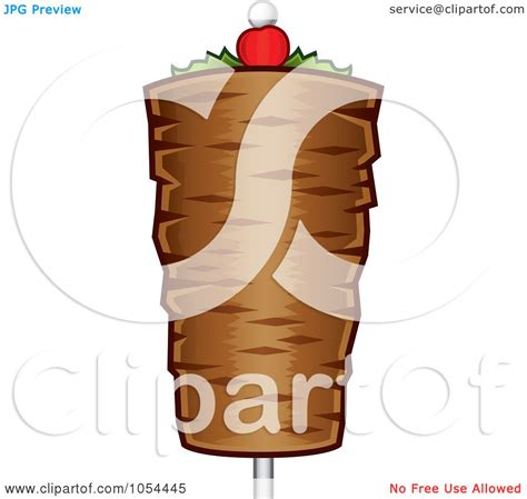 kebab clipart royalty free vector clip illustration of a doner kebab