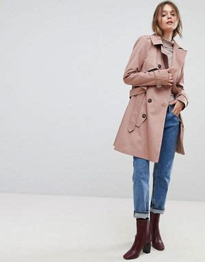 Asos Longline Classic Mac trench coats shop for coats jackets asos