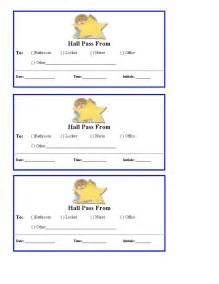 Printable school hall pass free hall passes for school teacher