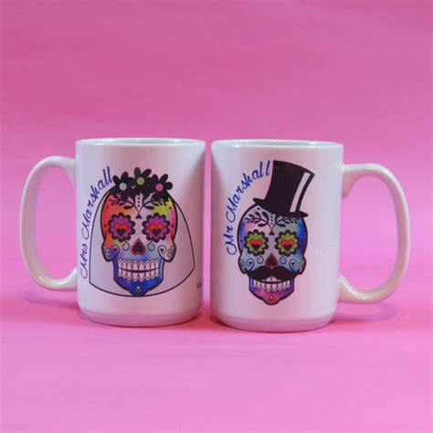 tattoo lover gifts day of the dead skulls rockabilly wedding mr and mrs