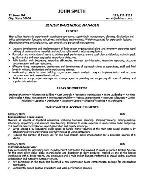 cover letter for warehouse manager position senior warehouse manager resume template premium resume
