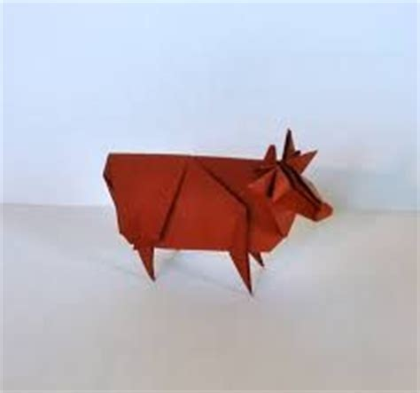 Cow Origami - cattle stuff on show steers cow print and