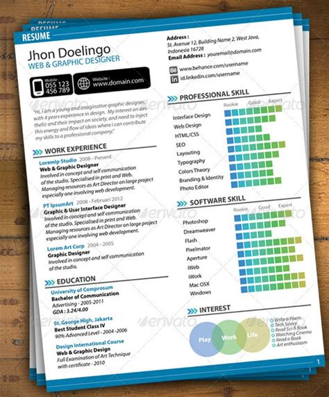 graphic designer resume template doc mac resume template great for more professional yet attractive document