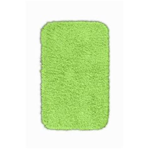Lime Green Bathroom Rugs Garland Rug Jazz Lime Green 24 In X 40 In Washable Bathroom Accent Rug Ben 2440 12 The Home