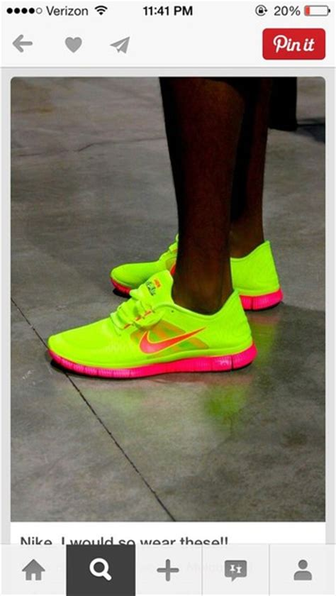 shoes neon yellow pink nike nike running shoes