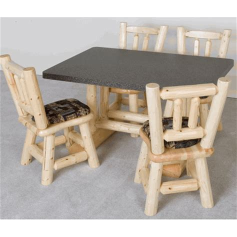 rectangular cedar log dining table log dining room viking rectangular pine log dining table formica top