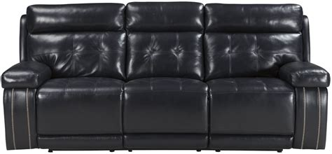 reclining sofa with adjustable headrest graford navy power reclining sofa with adjustable headrest