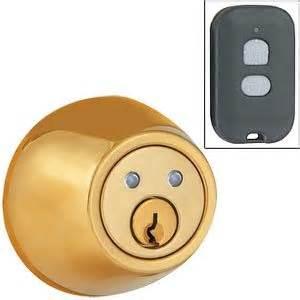 remote door lock home remote deadbolt brass with remote jpg