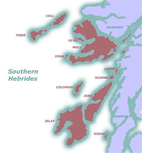 hebrides map southern hebrides map