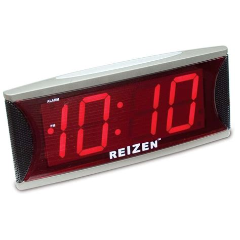 maxiaids reizen jumbo loud alarm clock with 2 inch led