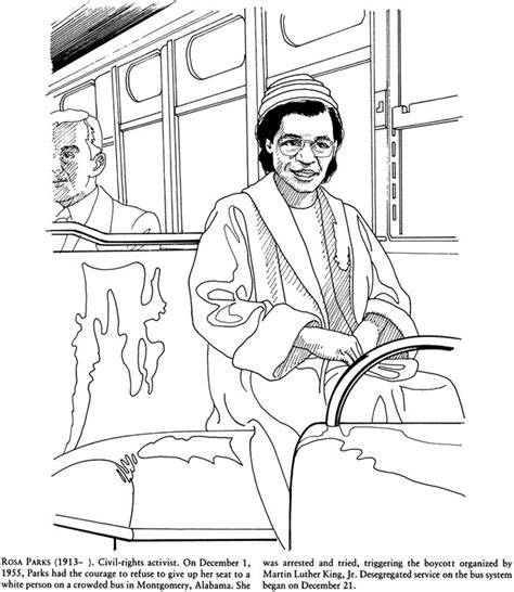 rosa parks coloring page rosa parks coloring pages coloring home
