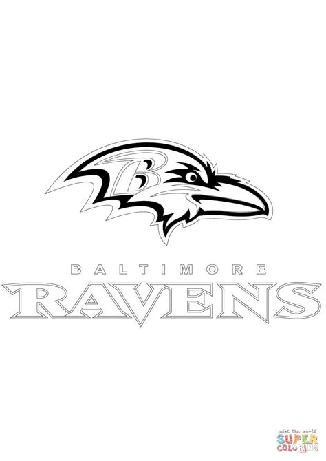 baltimore ravens coloring page az coloring pages