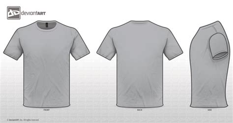 T Shirt Grey Template By Zombieabstract On Deviantart Grey T Shirt Template