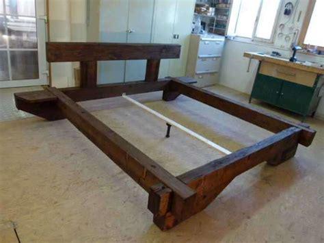 Bett Holz Rustikal by Balkenbett Aus Altholz Rustikal 180x200 Betten Matratzen