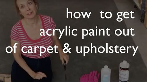 get paint how to remove acrylic paint from carpet upholstery youtube