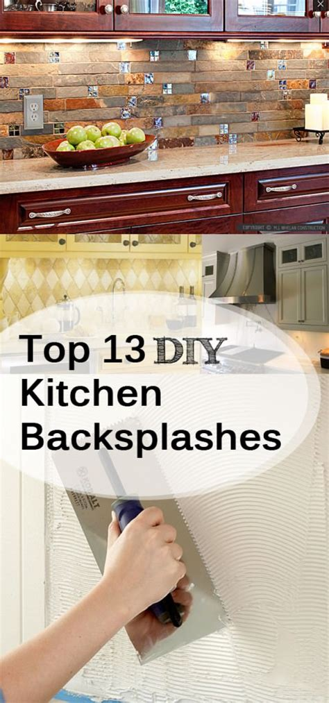 How To Make A Backsplash In Your Kitchen | top 13 diy kitchen backsplashes listsy