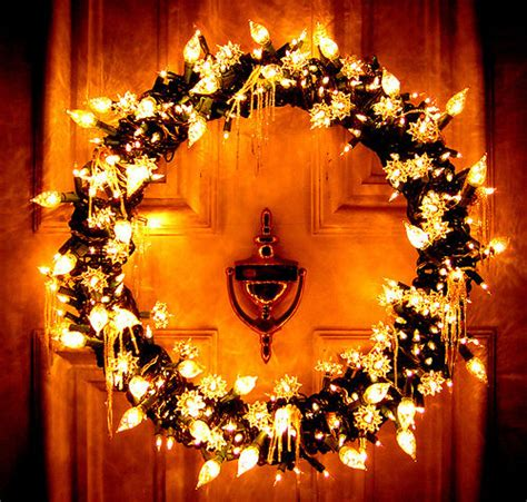lighted door wreaths for christmas christmas light wreath pictures photos and images for