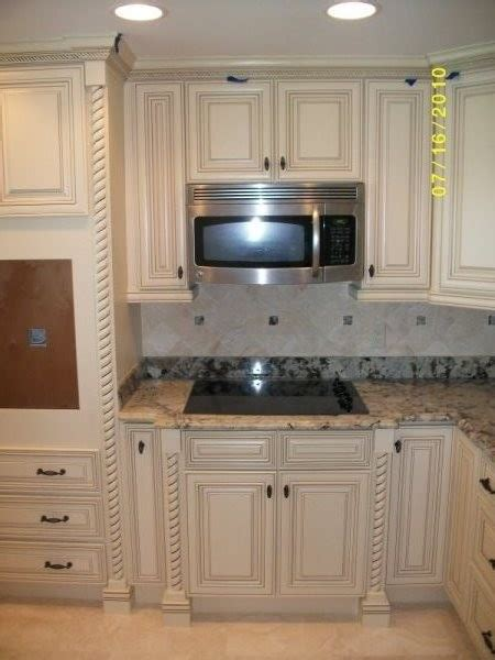 white with glaze traditional kitchen cabinetry