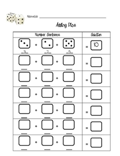 printable addition dice games addition dice game printable related keywords addition