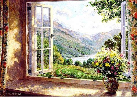 imagenes de paisajes vistos desde una ventana pinturas cuadros lienzos galer 237 a bodegones con ventanas
