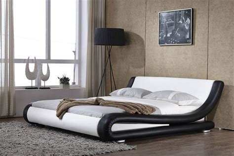 italian bedding prato italian modern designer double king size faux leather bed memory mattress ebay
