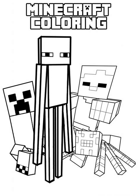 Minecraft Coloring Pages To Print Printable Minecraft Coloring Pages Coloring Home