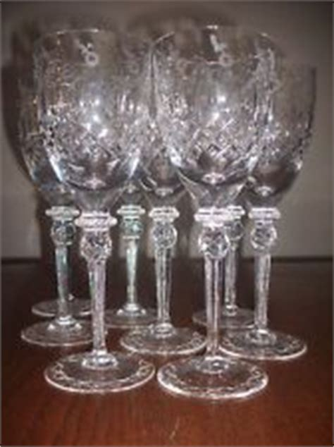 fine barware set 8 rogaska gallia etched lead cut fine crystal stemware