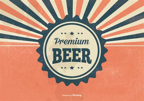 beer vector retro premium beer illustration download free vector art