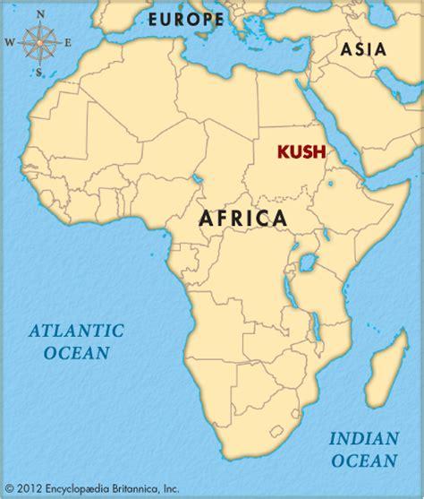 africa map kush kush encyclopedia children s homework help