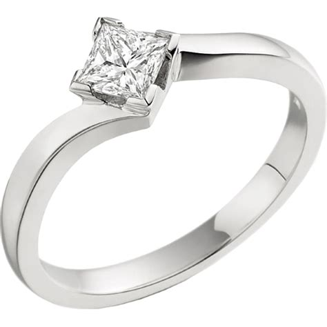 single twist engagement ring for in 18ct white