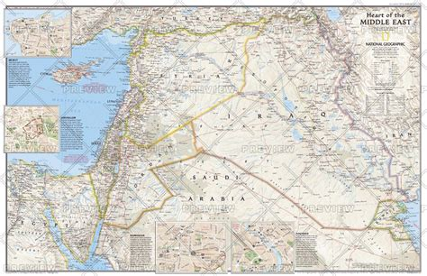 middle east map national geographic of the middle east published 2002
