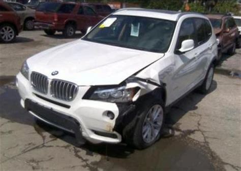 export salvage 2014 bmw x1 xdrive28i white on beige