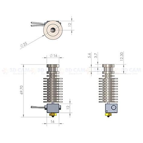 Reprap 3d Printer E3d V5 1 75 Mm Remote Block metal j v5 end for reprap 3d printer 1 75mm filament direct feed extruder 0 4mm nozzle